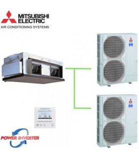 Aer Conditionat DUCT Mitsubishi Electric, PEA-RP400GAQ / 2 x PUHZ-RP200YKA 380V Power Inverter 152000 BTU/h