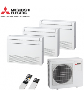 Aer Conditionat MULTISPLIT Pardoseala MITSUBISHI ELECTRIC MXZ-3D68VA / 3x MFZ-KJ25VE Triplu Split Inverter