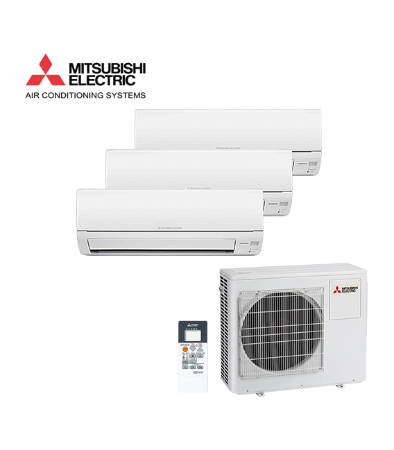 Aer Conditionat MULTISPLIT MITSUBISHI ELECTRIC MXZ3DM50VA / 2x MSZ-DM25VA + MSZ-DM35VA Triplu Split Inverter
