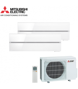 Aer Conditionat MULTISPLIT MITSUBISHI ELECTRIC Kirigamine Style 2x MSZ-LN25VGW / MXZ-2F42VF Dublu Split Inverter
